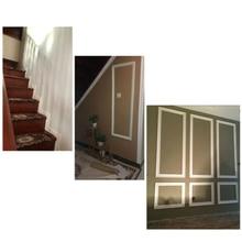 Отделка стен линии плинтуса границы 3D узор стикер декор самоклеющиеся Водонепроницаемый полосы JS21