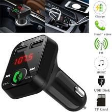 цена на Bluetooth 4.1 Handsfree Car MP3 Player Kit FM Transmitter 3.1A  Dual USB Charger LCD Digital Voltmeter TF Card Car Accessories