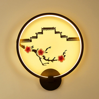 New Creative Chinese Wind LED Wall Light Retro Art Flower Style Wall Lamp For Restaurant Bar Coffee Shop Cafe Home Decoration