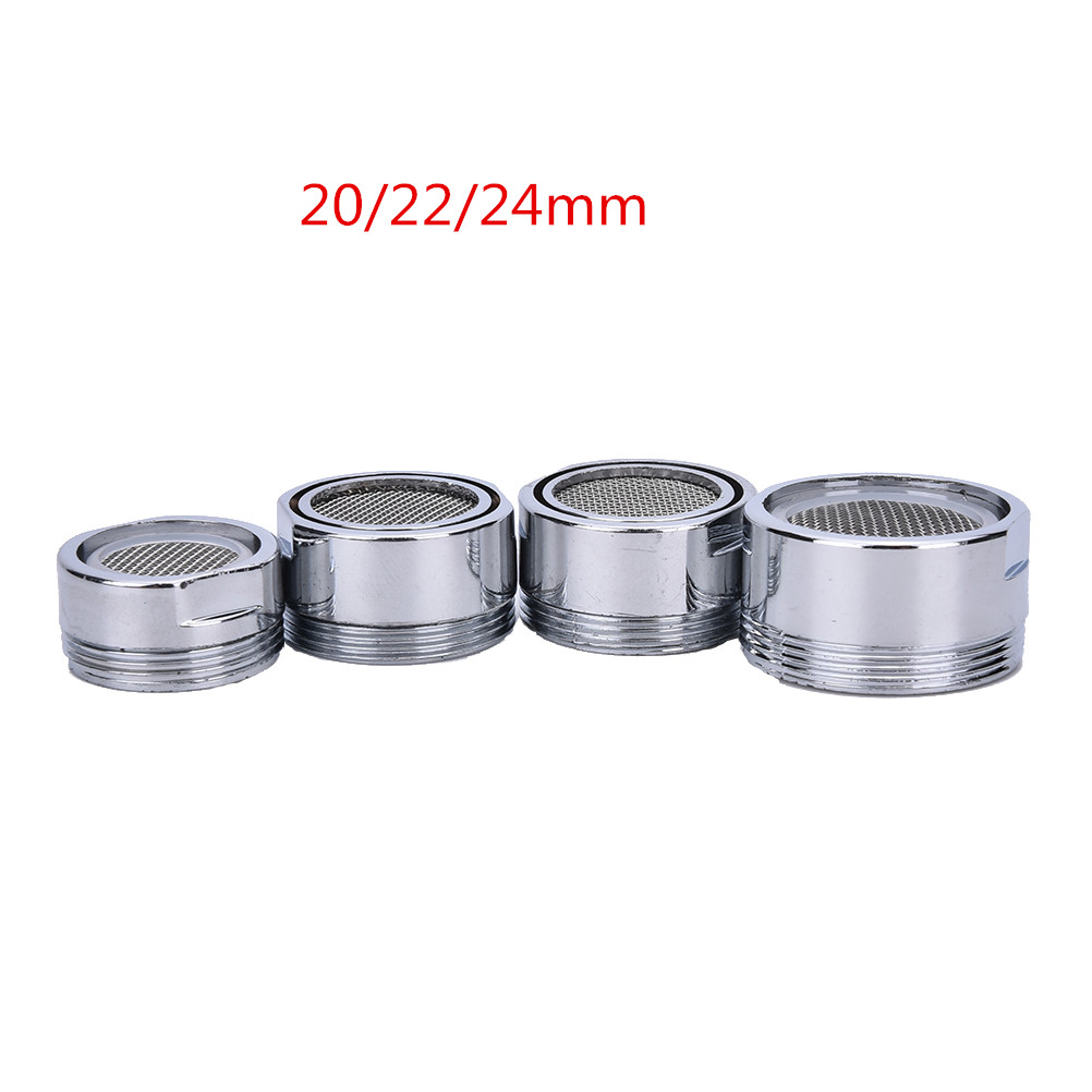 20/22/24mm Water Bubbler Swivel Head Saving Tap Faucet Aerator Connector Diffuser Nozzle Filter Mesh Adapter