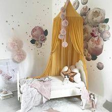 Niños princesa dosel cama cortina toldo niños habitación decoración bebé red mosquitera redonda cortinas niños cuna red Decoración