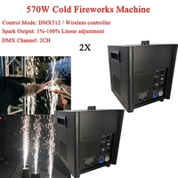 2Pcs/Lot 570W Cold Spark Firework Machine For Wedding Celebration Dmx And Remote Control Spark Fountain Sparkular Machine For DJ
