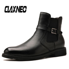 Buy CLAXNEO Man Boots Zipper Autumn Mens Leather Shoes Genuine Leather Male Winter Boot Plush Fur Warm Design Snow Footwear directly from merchant!