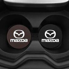 2Pcs עור מפוצל רכב מים חריץ החלקה גביע למאזדה מאזדה 6 מאזדה 3 מאזדה 2 CX3 CX4 CX5 CX7 CX9 CX30 RX8 MX5 MX3 MS MP