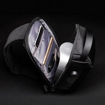 Men's Waterproof USB Oxford Crossbody Bag Anti-theft Shoulder Sling Bag Multifunction Short Travel Messenger Chest Pack For Male 5
