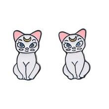 CA317 1 Pair Sailor Moon Cat Cute Stud Earrings For Womens Jewelry Stainless Steel Pierce Girls