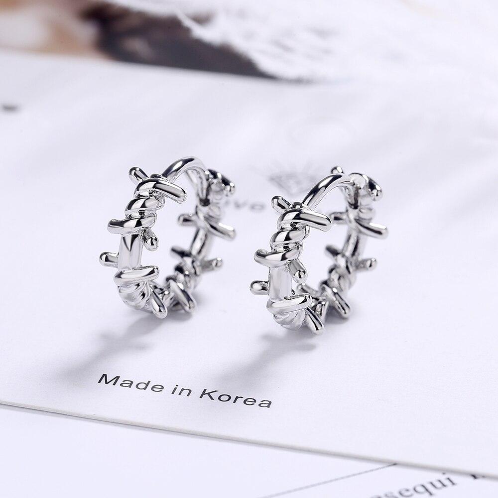NEHZY 925 en argent Sterling nouvelle femme bijoux de mode de haute qualité noir Thai argent rond boucles d'oreilles Simple rétro boucles d'oreilles 5