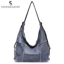 SC винтажная сумка из натуральной кожи, сумки на плечо для женщин, большие повседневные ретро сумки-мессенджеры ручной работы, рюкзак в стиле...