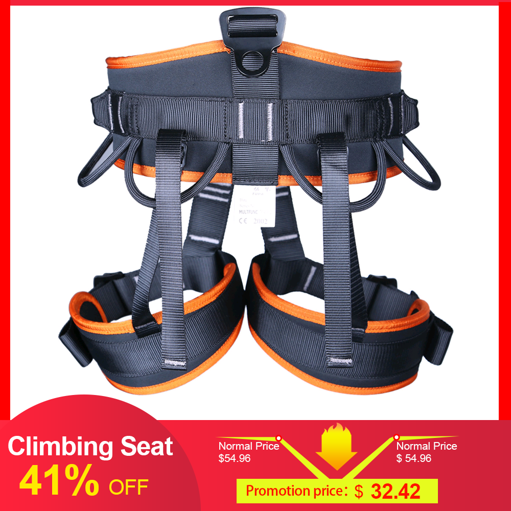 Rock Climbing Safety Seat Harness Falling Protection Belt Rappelling Escalade Equipment Outdoor Climbing Tools Tackles Christmas image