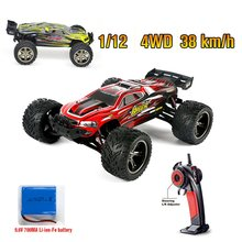 9116 1:12 RC Car Brushed Motors Drive Bigfoot Car 4WD Driving Truck Cars Remote Control Car Model Off-Road Vehicle Toy r c car 2 4g 4ch 4wd 4x4 driving car monster truck off road vehicle remote control car model toys gift for children e