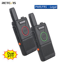 RETEVIS RT618 Mini Walkie Talkie Dual PTT Walkie-Talkie PMR 446 Portable Two-way Radio Walkie-talkies 2 pcs Hotel Restaurant FRS