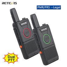 RETEVIS RT618 Mini Walkie Talkie Dual PTT Walkie-Talkie PMR 446 Portable Two-way Radio Walkie-talkies 2 pcs Hotel Restaurant FRS