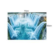 цена на 3D Waterfall Floor Wall Sticker Living Room Bedroom Wall Sticker Home Decoration Mobile Mural