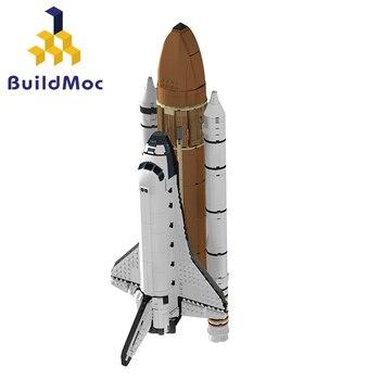 Buildmoc blocks 16014 Space Shuttle Expedition Building Kits Set Blocks Bricks Compatible technic Children Toys 10231 lepin nexo knights axl jestros volcano lair combination marvel building blocks kits toys minifigures compatible nexu