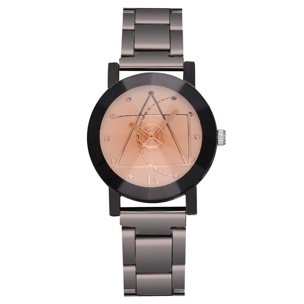 Creative Geometric Figure Watch Ceasuri Man Woman Top Brand Luxury Stainless Steel Quartz Hodinky Couple Watch Reloj Parejas