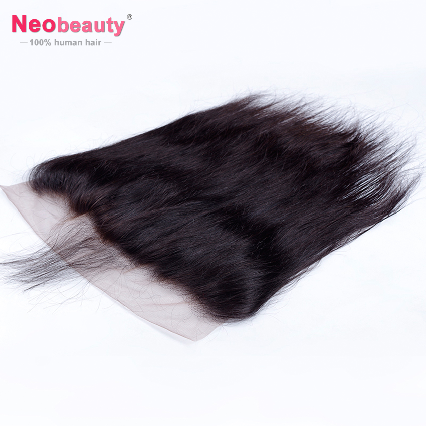10A Human Hair 13x4 Lace Frontal Closure Pre-plucked With Baby Hair 180 Lace Closure Silky Straight