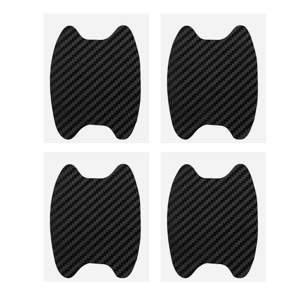 4 Buah/Set Universal Serat Karbon Mobil Pintu Menangani Film Stiker Mobil Menangani Anti Gores Stiker Pelindung Film