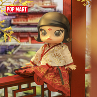 POP MART BJD Chinese Style Red Skirt/Pink Skirt Molly Collectible Cute Action Kawaii Gift Kid Plastic Toys Figure Free Shipping