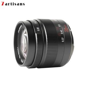 Image 2 - 7 Ambachtslieden 35Mm F0.95 Grote Diafragma Portret Lens Voor Sony E/Fuji/Canon Eos M/nikon Z/M43 Mount Mirrorless Camera Gratis Verzending