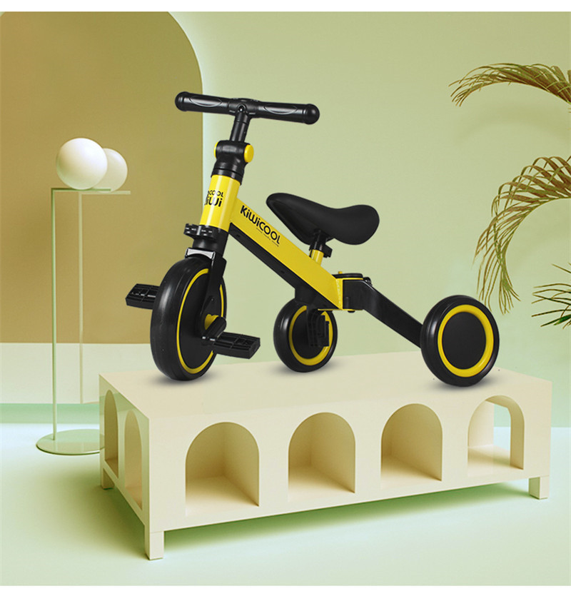 Hb9b7a20313af458e90696314efd81916S 3 in 1 Kids Tricycle + Balance bike + Baby walker Child Push Bike Toddler Learn to Ride Bicycle Ride On Toy Boy Girl Xmas Gift