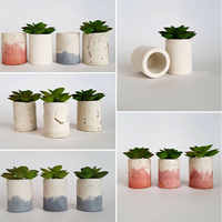 silicone mold for Concrete Round Design four holes Plant Cactus Flower Pot Container Mould Aroma Gypsum Vase Clay Crafts Mold