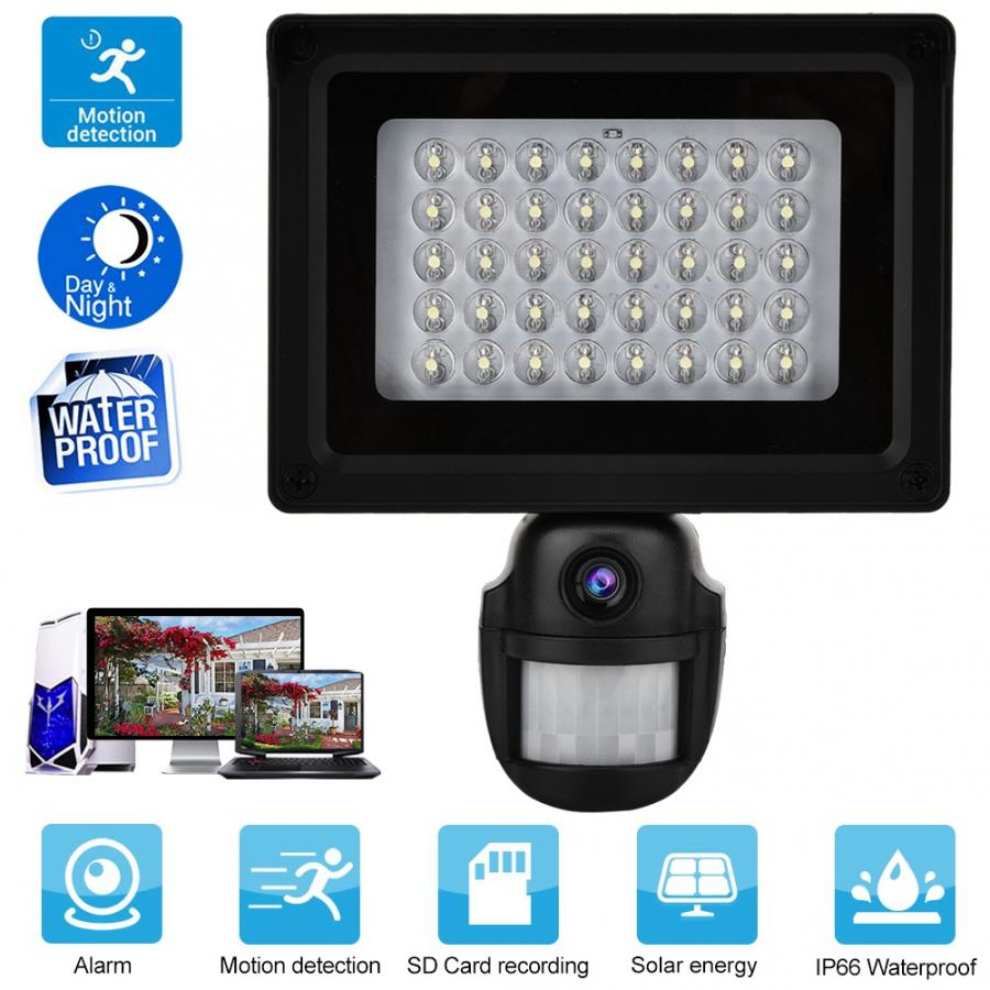 US Motion Detection Solar Dvr Courtyard Light Solar Power Waterproof Outdoor Security DVR Camera Night Motion Detection 110-240V for Security Night Looking Motion Detection