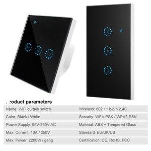 Image 2 - Ue/usa wifi touch przełącznik Ewelink bezprzewodowy sterowania kurtyny garaż silnik migawki drzwi inteligentny włącznik wifi praca z Alexa/Google domu