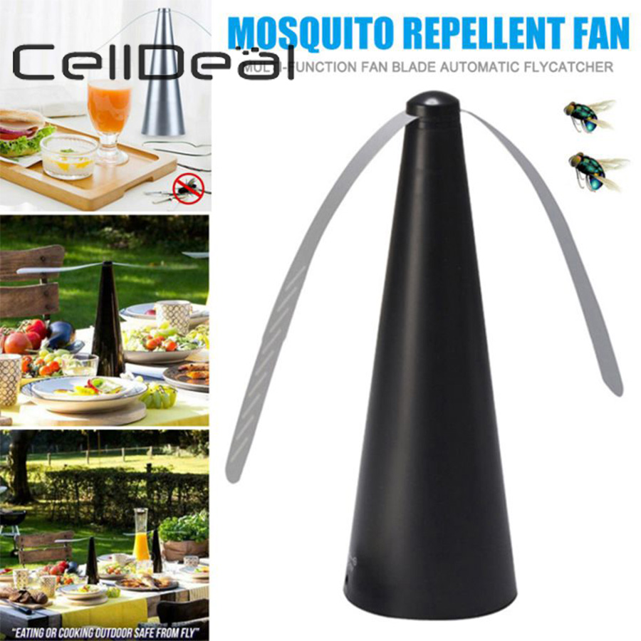 Multifunctional Energy-saving Mosquito Repellent Device With Automatic Mosquito Repellent Fan Enjoy Outdoor Food Away From Flies