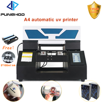 A4 size UV flatbed printer for PVC card metal wood pen mugs printing machine 6 colors continuous ink supply