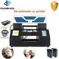 A4 размер УФ планшетный принтер для ПВХ карты Металл Дерево ручка печать кружек машина 6 цветов непрерывная поставка чернил