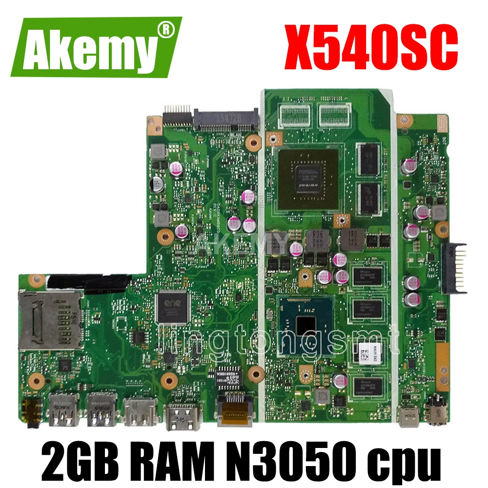 X540SC <font><b>motherboard</b></font> 2G RAM N3050 For <font><b>ASUS</b></font> X540SC X540S <font><b>X540</b></font> laptop <font><b>motherboard</b></font> X540SC mainboard X540SC <font><b>motherboard</b></font> test 100% ok image