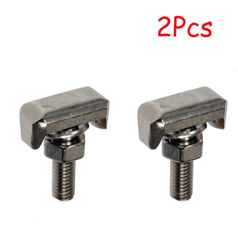 Nuevo y de alta calidad 2 * conectores de terminales de Cable de batería coche t-bolt reemplazar Acero inoxidable 19116852