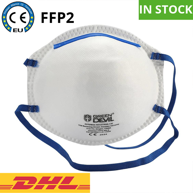 20PCS Disposable FFP2 KN95 Face Mask Dust Mask Non Valve Respirator With CE Approved For Flu Protection PM 2.5