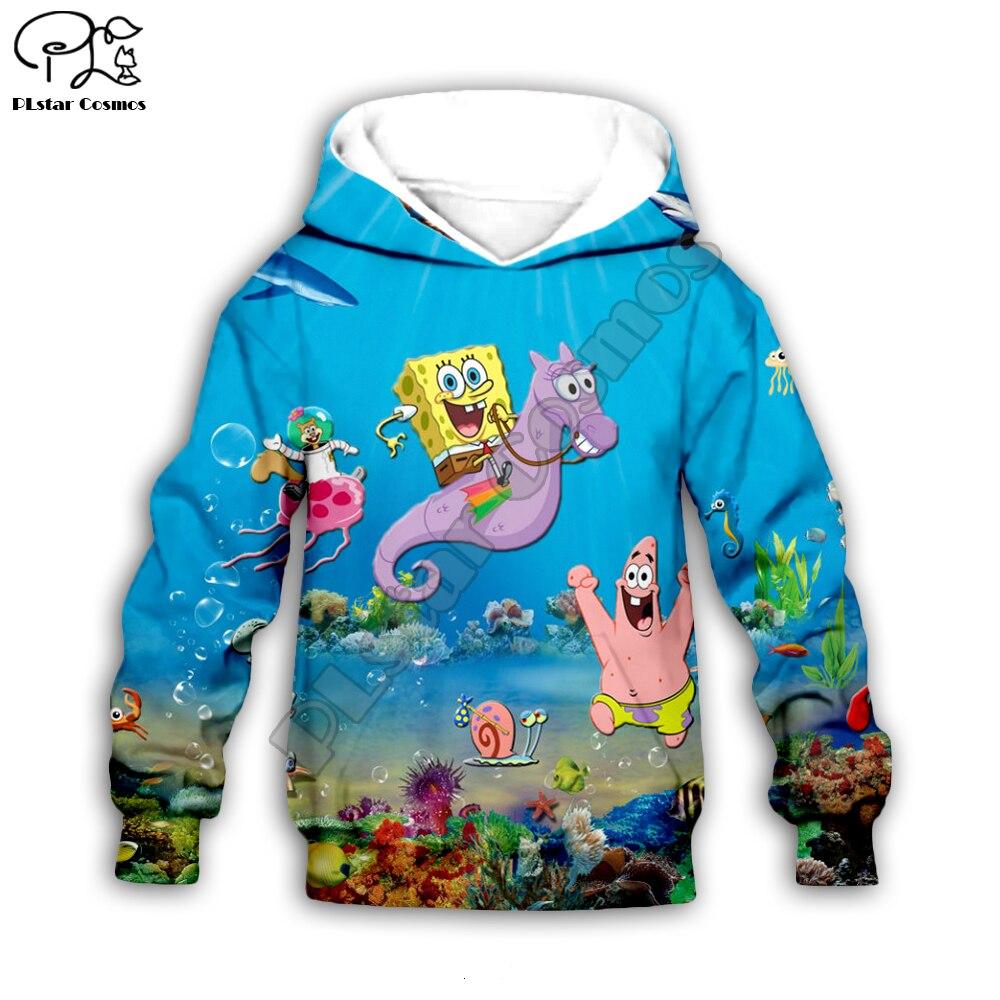 Kids Hoodies Baby Boy 3D Patrick Printng Zipper Coat Long Sleeve Sponge  Bob Sweatshirt Children Clothing Summer Tshirt Pant