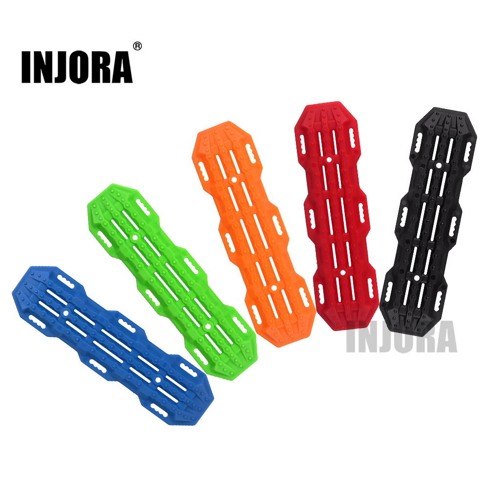 INJORA 2PCS Plastic Sand Ladder Recovery Ramps Board For 1:10 RC Crawler Axial SCX10 Tamiya CC01 TRX-4 D90 MST CFX
