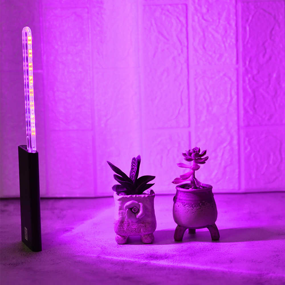 24 Leds Plant Groei Lamp Usb Draagbare Led Licht Groeien Volledige Spectrum Phyto Led Groeilicht Aangedreven Door DC5V Adapter power Bank
