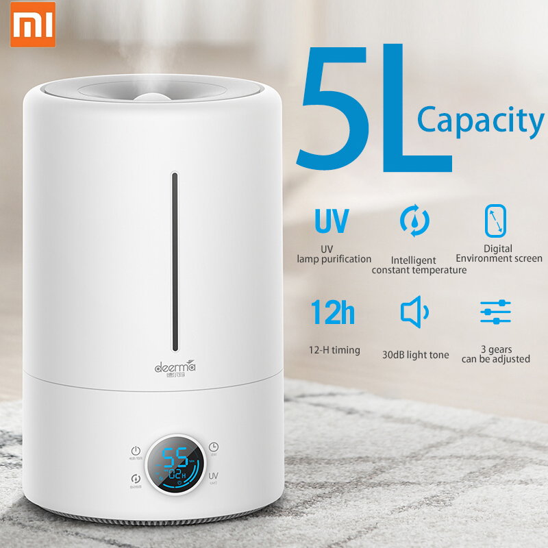 Xiaomi Deerma F628S 5Lcapacity UV Lamp Purification  Air Humidifier Baby Bedroom Office 12H Timing Air Purifying Touch Version