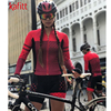 Kafitt triathlon terno conjuntos de camisa de ciclismo feminino uniforme manga longa skinsuit macacão macaquinho ciclismo feminino 1