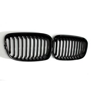 Image 3 - Grade para frente do capuz de carro, 2 peças, brilhoso, preto, grade de corrida, para bmw f20 f21 1 series 2011 2012 2013 2014 estilo do carro