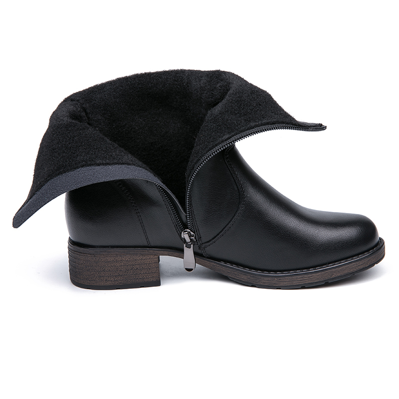 IMG_5657AIMEIGAO High Quality Flat Ankle Boots For Women Retro Style Short Ankle Boots Warm Women Boots Soft Leather Flats Booties