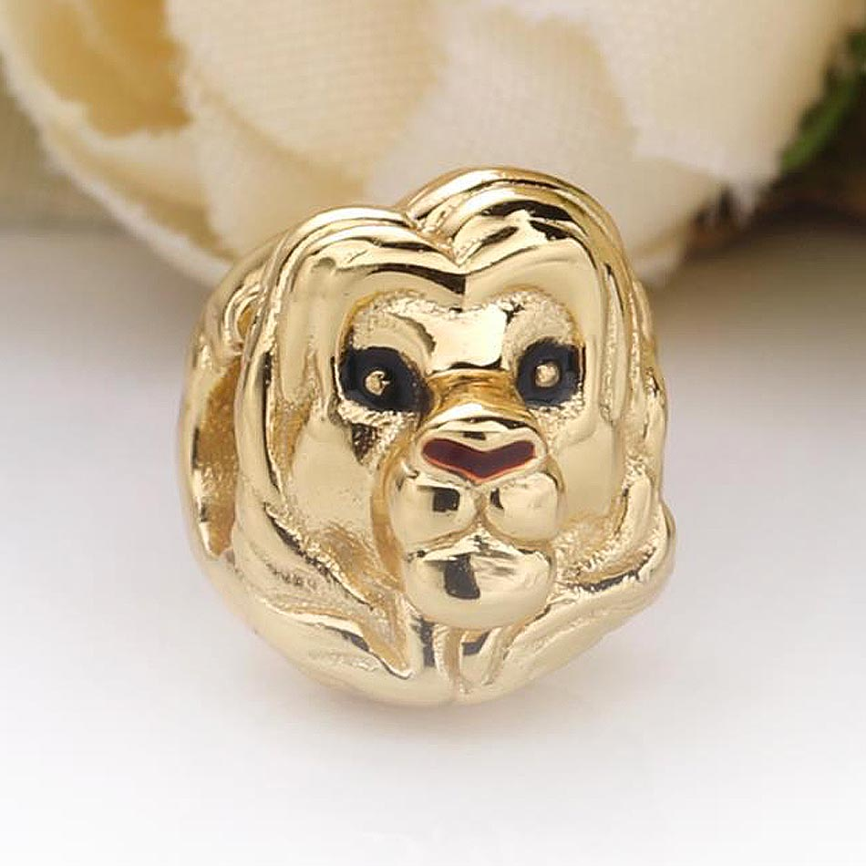 Original Shine Red Enamel Eyes And Nose Simba Beads Fit 925