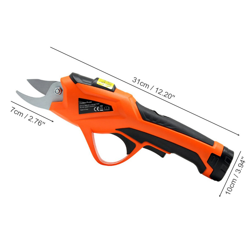 Cordless Electric Garden Pruning Shears for Orchard Branches and Stems of Flower Plants with 3.6V Battery 7