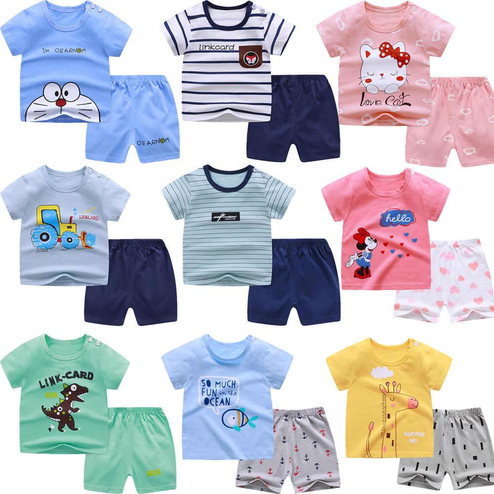 Children Summer Pajamas Baby Clothing Set Kids Unicorn Cartoon Sleepwear  Autumn Cotton Nightwear Boys Girls Animal Pyjama Pijama