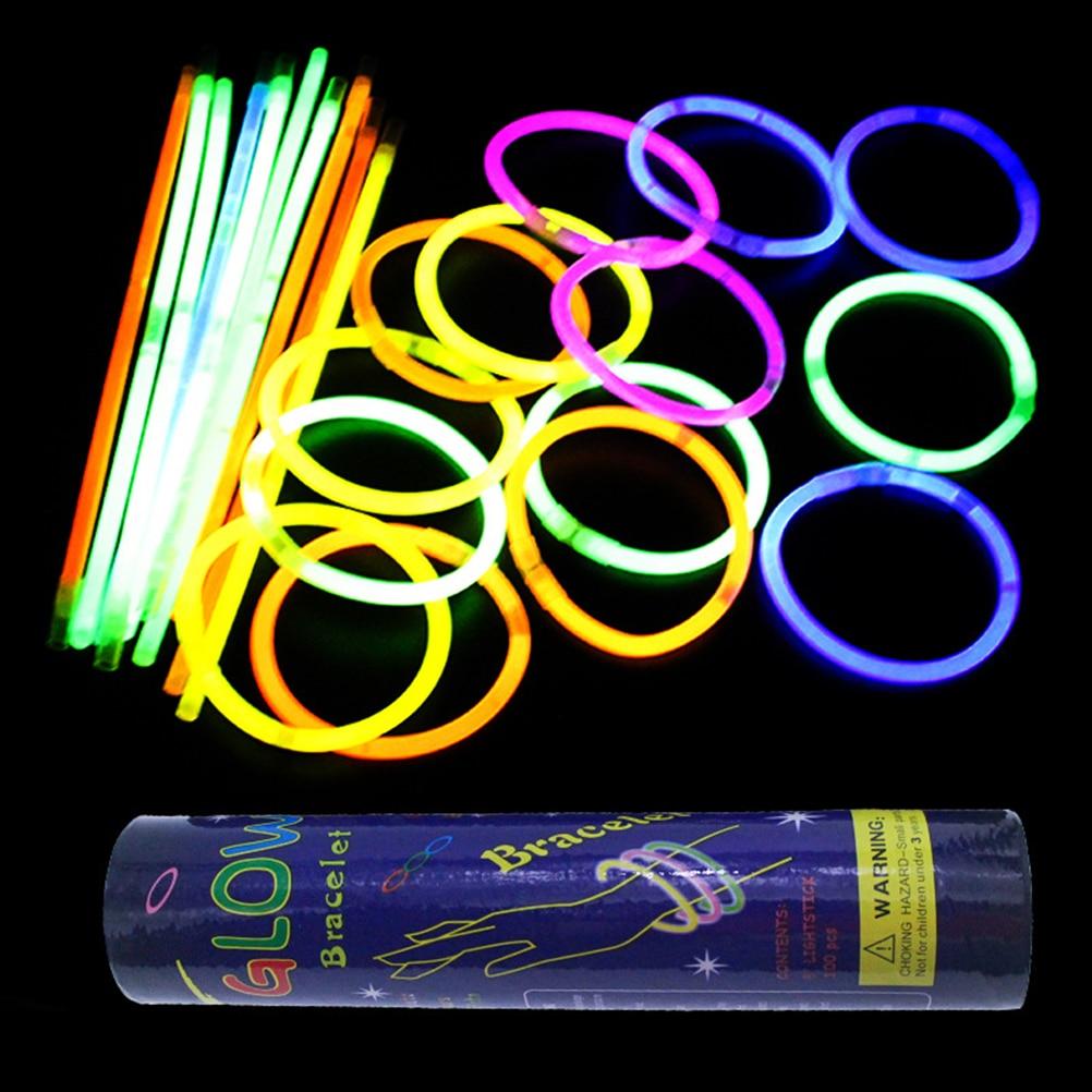 100Pcs/lot 8 Colors Mix Bright Colorful Glow Sticks Toy Party Fluorescence Light Neon Event Festive Party Supplies Concert Decor