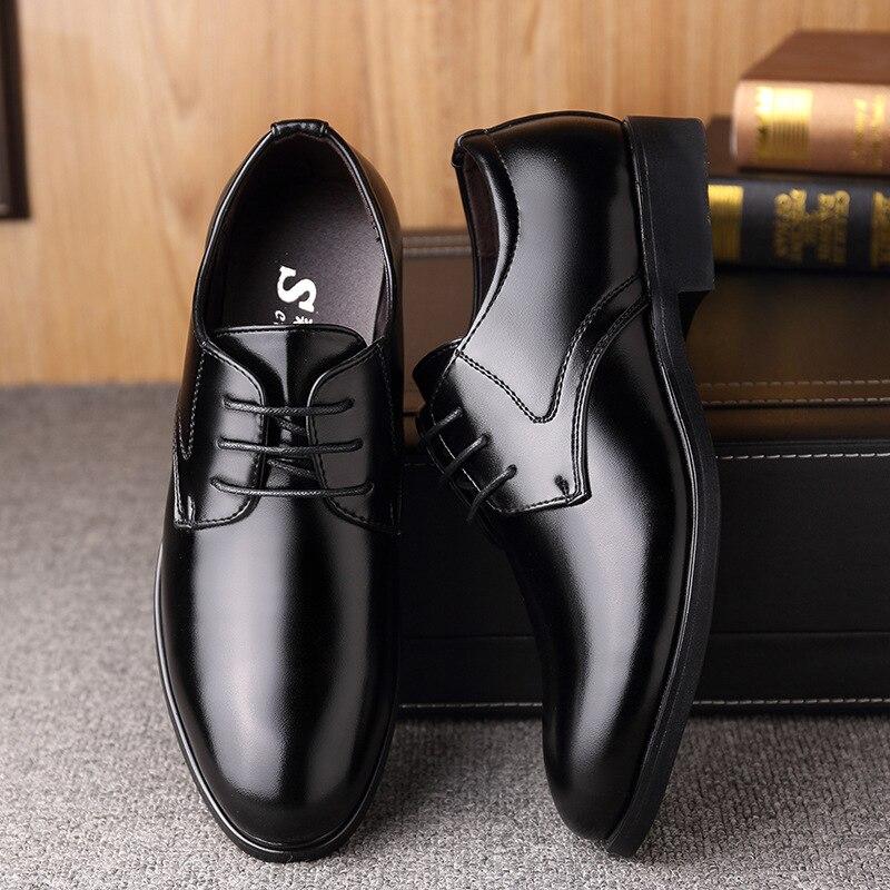 Mazefeng 2021 Новая модная деловая классическая мужская обувь, Классические Кожаные мужские костюмы, обувь, модные классические туфли на шнуровк...