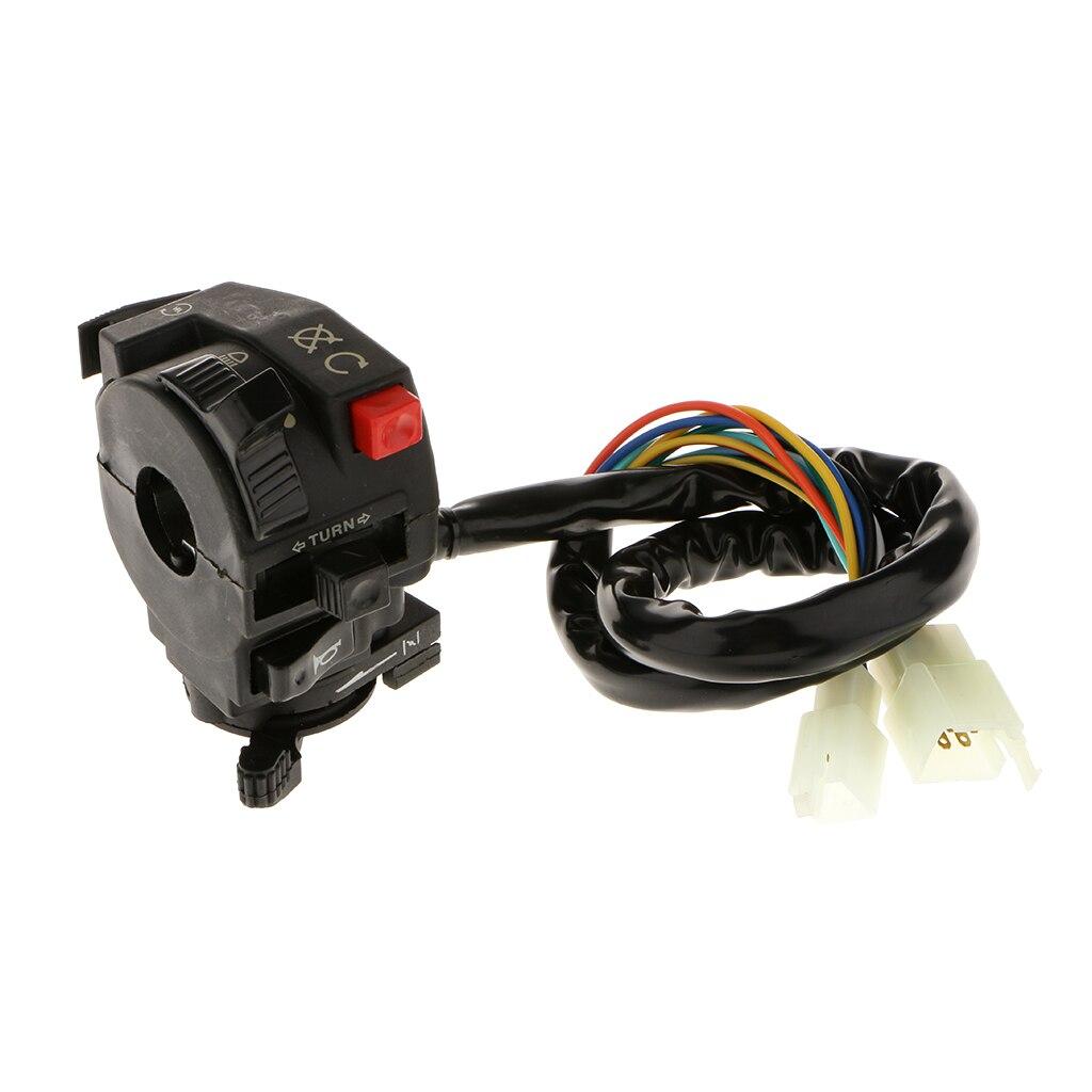 Left Handlebar Start Hi-Lo Headlight Kill Switch Assembly Horn Kill Button Starter Switch For Kazuma Falcon Panda 110-250cc ATV