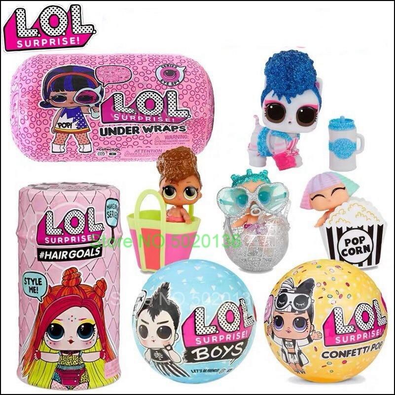 Surprise Glitter Globe LOLS Doll Hairgoals Makeover Winter Disco Series Baseball Baby Color Kids Gift Confetti POP Toys
