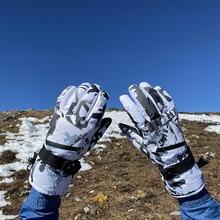 Winter Waterproof Ski Gloves Women Outdoor Warm Touch Screen Ski Gloves Plus Velvet Gant Chauffant Sports Entertainment EF50ST