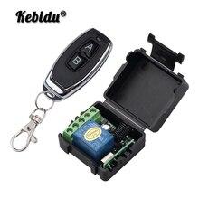 Kebidu Control remoto inalámbrico Universal, 433 Mhz, módulo receptor por relé