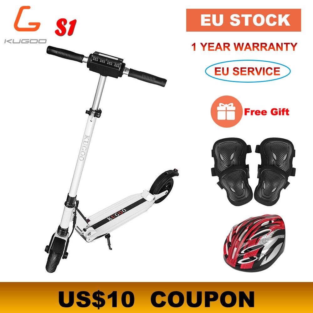 [Stock Europe] KUGOO S1 Scooter électrique pliant 350W 30 KM/h 30KM moteur écran d'affichage LCD 8.5 pouces pneu Scooter adulte